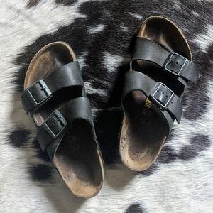 Birkenstock Arizona Leather Strap Sandals 39